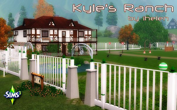 Sims 3 ranch, farm, house, lot