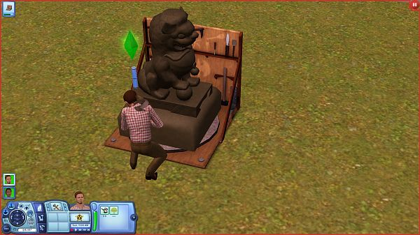 Sims 3 sculpture, bject