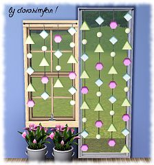 Sims 3 curtain, decor, set