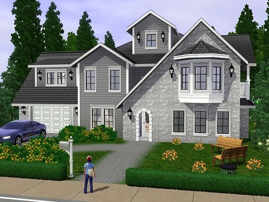 Sims 3 villa, house, lot