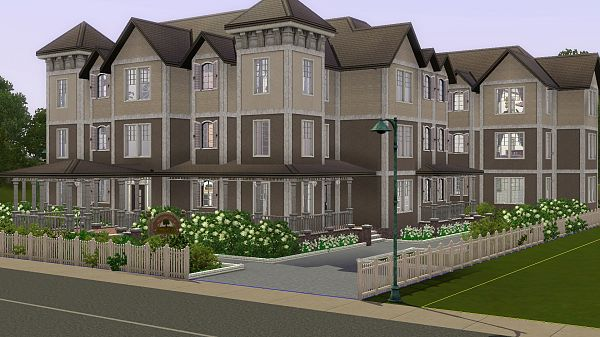 Sims 3 lot, residential, apartment