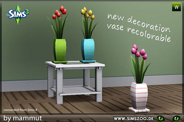Sims 3 vase, decor, objects