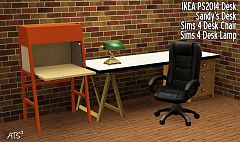 Sims 3 desk, office