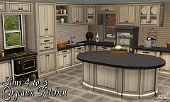 Sims 3 kitchen, objects, counter, island