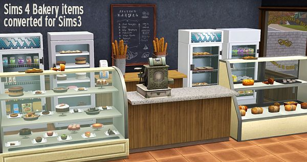 Sims 3 bakery, display, tray, bread