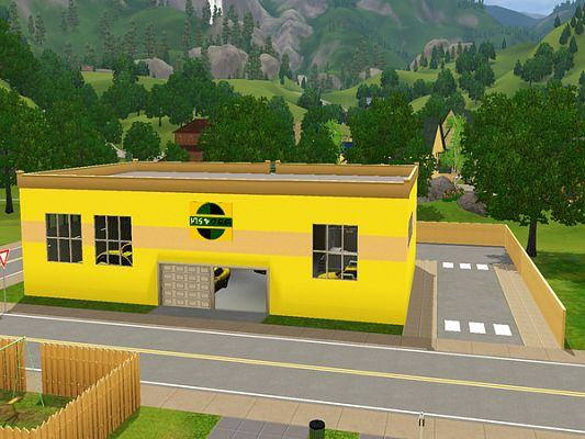 Sims 3 lot, taxi