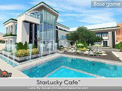Sims 3 lot, community, cafe