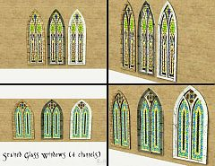 Sims 3 windows, build, cathedral