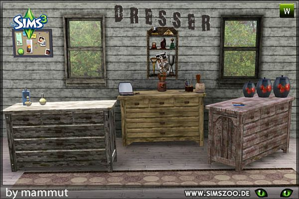 Sims 3 dresser, furniture