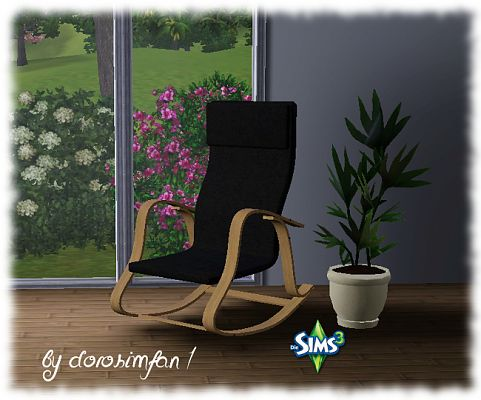 Sims 3 furniture, rocking chair, chair