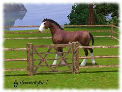 Sims 3 fence, build, gate