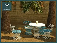 Sims 3 diningroom, dining, furniture, sims, room, outdoor