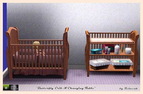 Sims 3 updates the sims resource butterfly crib n changing table by