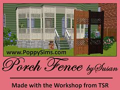 Sims 3 porch, fence, build, outdoor, arhitecture