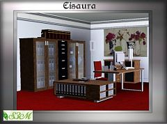 Sims 3 office, set, furniture, objects