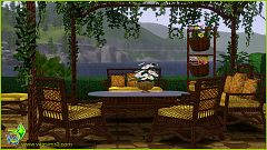 Sims 3 outdoor, furniture, rattan, objects