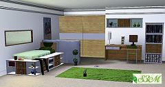 Sims 3 teen, room, bedroom, furniture, deco