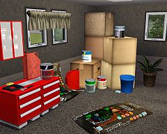 Sims 3 clutter, set, decorative, objects