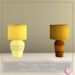 Sims 3 lamp, decoration, table