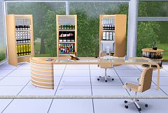 Sims 3 office, set, study, furniture, objects