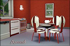 Sims 3 set, chairs, chair, table, tea pot, furniture, dinning