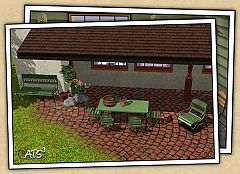 Sims 3 table, coffee table, lantern for table, basket, boots