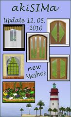 Sims 3 doors, curtains, lights, objects, build, decor