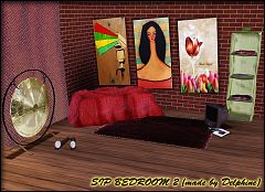 Sims 3 bedroom, furniture, decor, objects