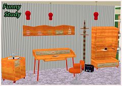 Sims 3 study, furniture, objects, decor