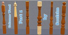 Sims 3 columns, wood, build, decor