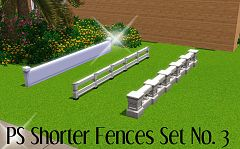 Sims 3 fence, build, wood