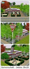 Sims 3 build, lot, commercial
