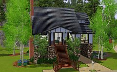 Sims 3 house, home, lot, town, architecture, build