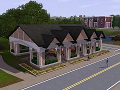 Sims 3 house, build, lot, commercial, station
