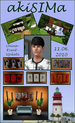 Sims 3 house, build, lot, residential, paintings, sims