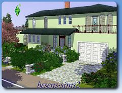 Sims 3 kitchen, hall, bathrooms, living room, garage, balconies, terrace, pool, garden