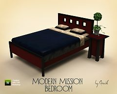 Sims 3 bedroom, bed, furniture