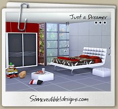 Sims 3 bedroom, modern, furniture