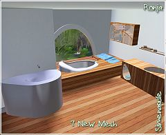 Sims 3 bathroom, set, furniture, objects