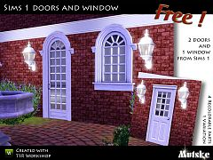 Sims 3 door, window, build, sims1