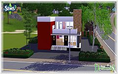 Sims 3 lot, building, house, Christmas