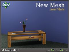 Sims 3 table, living, decor