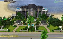 Sims 3 house, lot, hotel, architecture, home