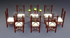 Sims 3 table, chair, furniture, objects, decor, set
