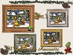Sims 3 paintings, decoration, winter