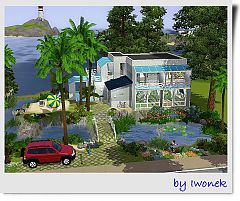 Sims 3 house, lot, architecture, build, home
