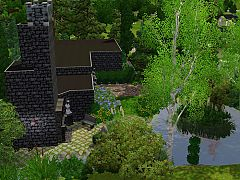 Sims 3 house, lot, catacombs, architecture, build, home, sims