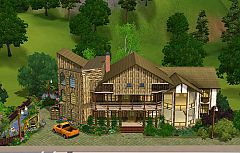 Sims 3 house, lot, farm, architecture, build, home, sims