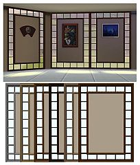 Sims 3 windows, framed, wall, build
