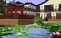 Sims 3 house, lot, asian, architecture, build, home, sims